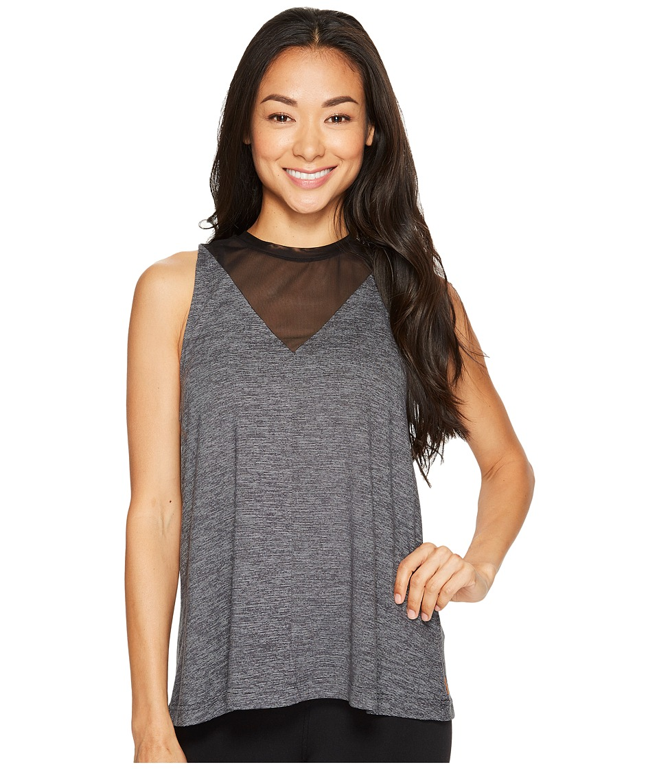 Lucy - Manifest Mesh Tank Top (Lucy Black Micro Stripe) Women's Sleeveless