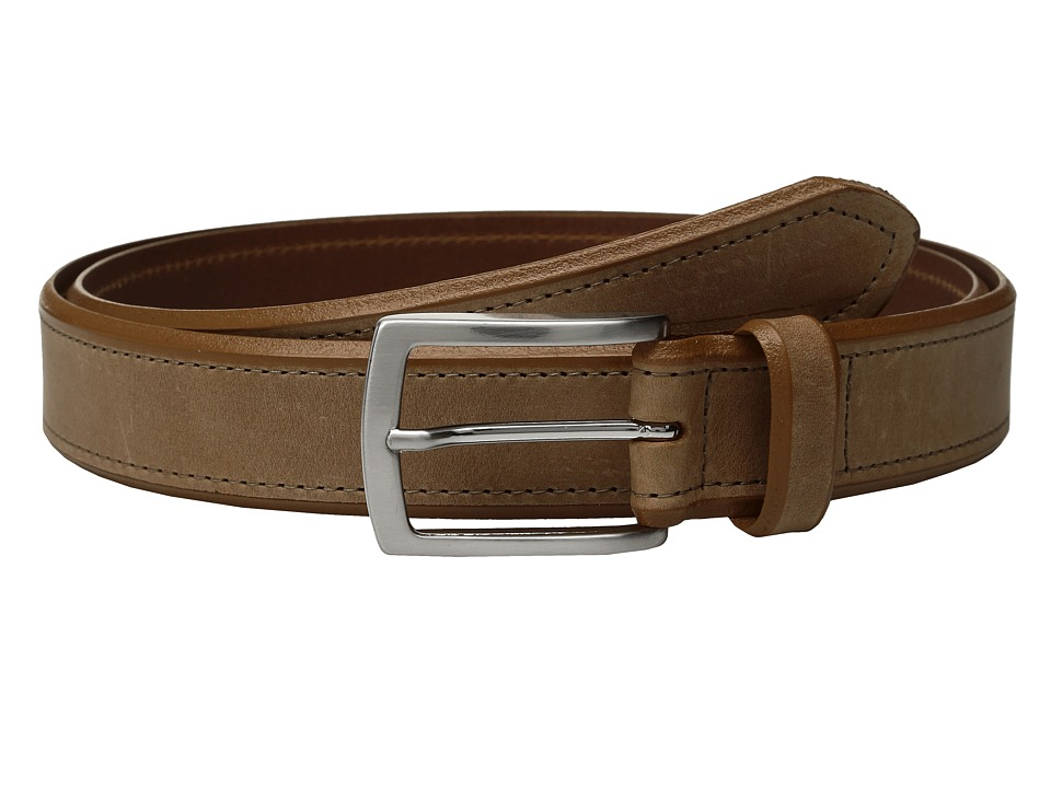 Johnston & Murphy - Single Stitch Belt (Tan) Men's Belts