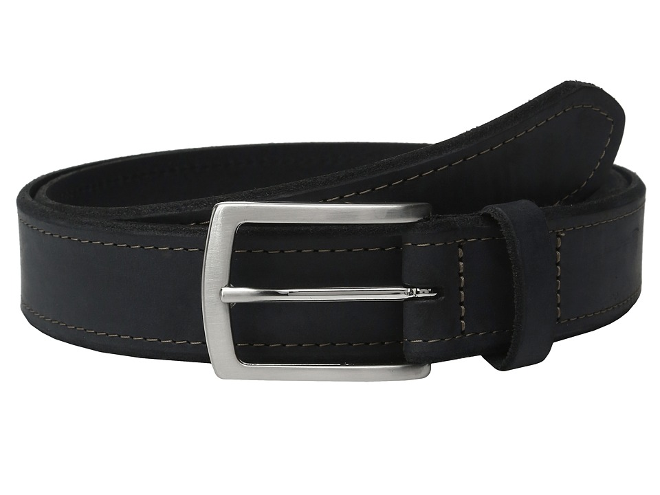 Johnston & Murphy - Single Stitch Belt (Navy) Men's Belts