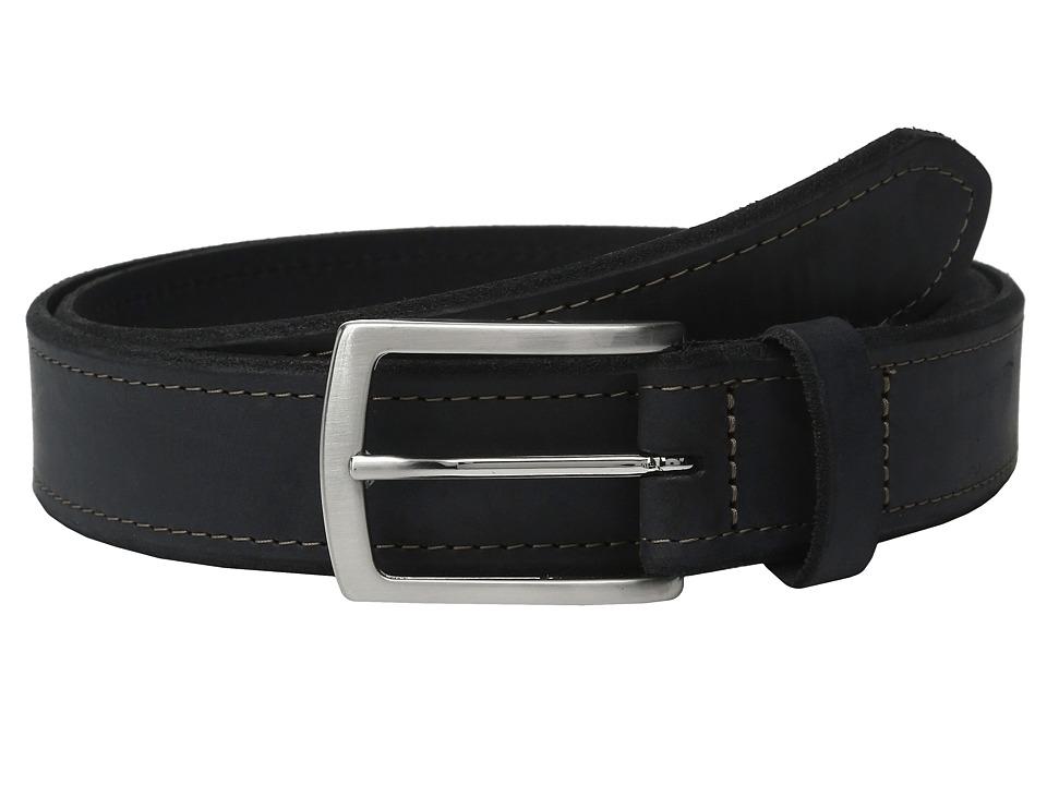 Johnston & Murphy - Single Stitch Belt (Navy) Men's Belts