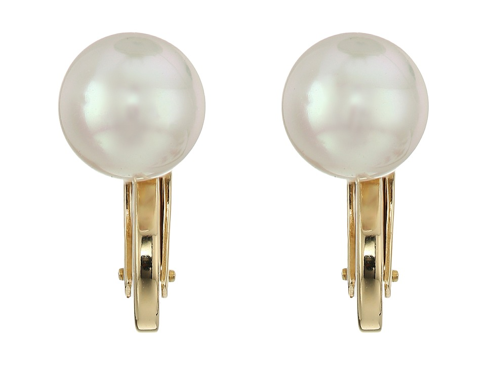 Majorica - Clip Earrings (White) Earring