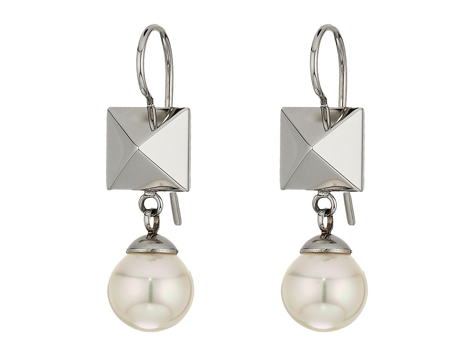 Majorica - Why Not? Silver Frenchwire Earrings (White) Earring