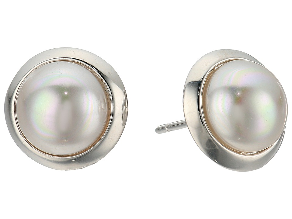 Majorica - Mabe Stud Earrings (White) Earring