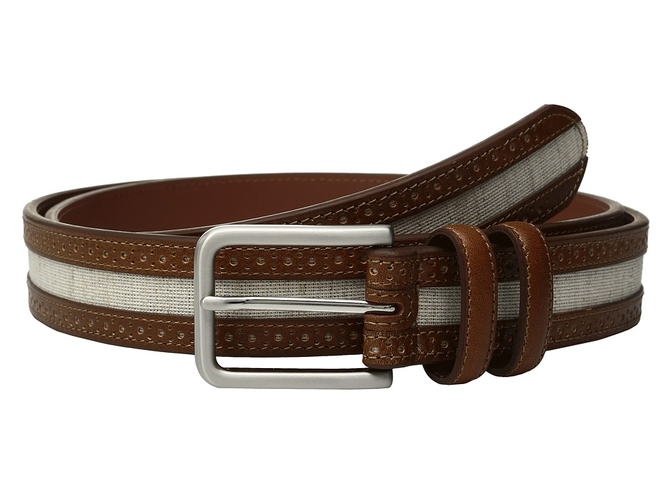 Johnston & Murphy - Linen Belt (Light Linen/Tan) Men's Belts