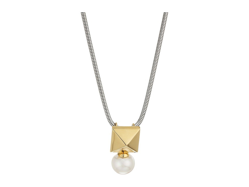Majorica - Why Not? Two-Tone Pendant (White) Necklace