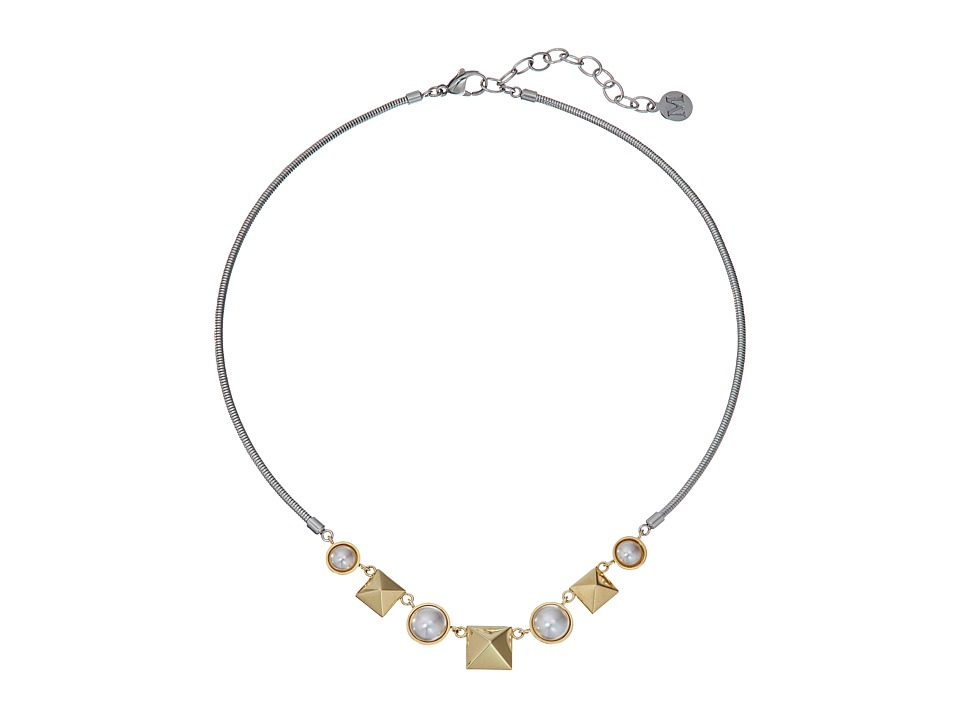 Majorica - Why Not? Two-Tone Necklace (White) Necklace