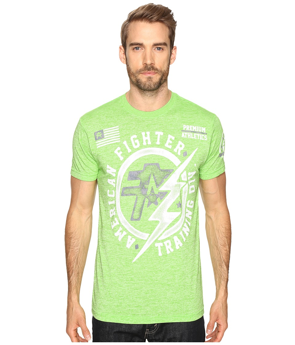 American Fighter - Heritage Artisan Short Sleeve Crew Tee (Lime Green) Men's T Shirt
