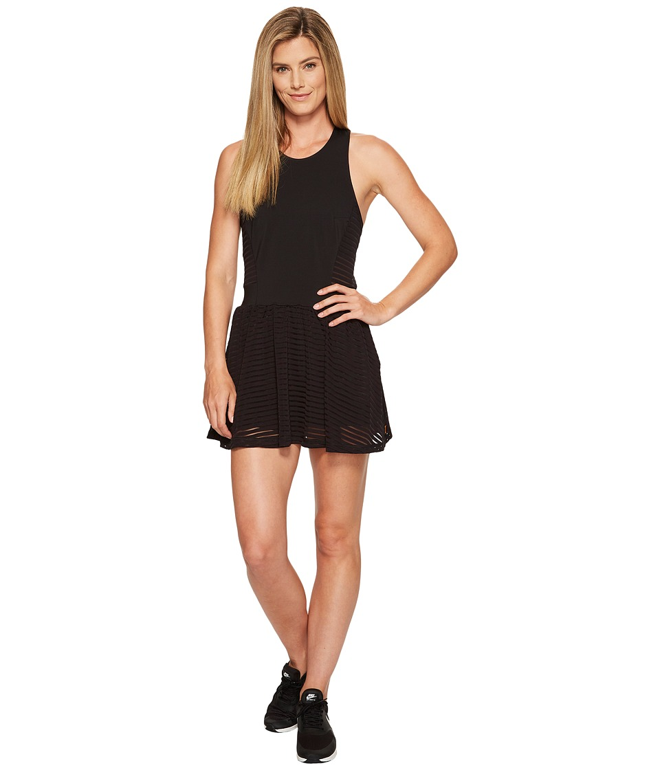 Lucy - Ready Set Layer Dress (Lucy Black Stripe Mesh) Women's Dress