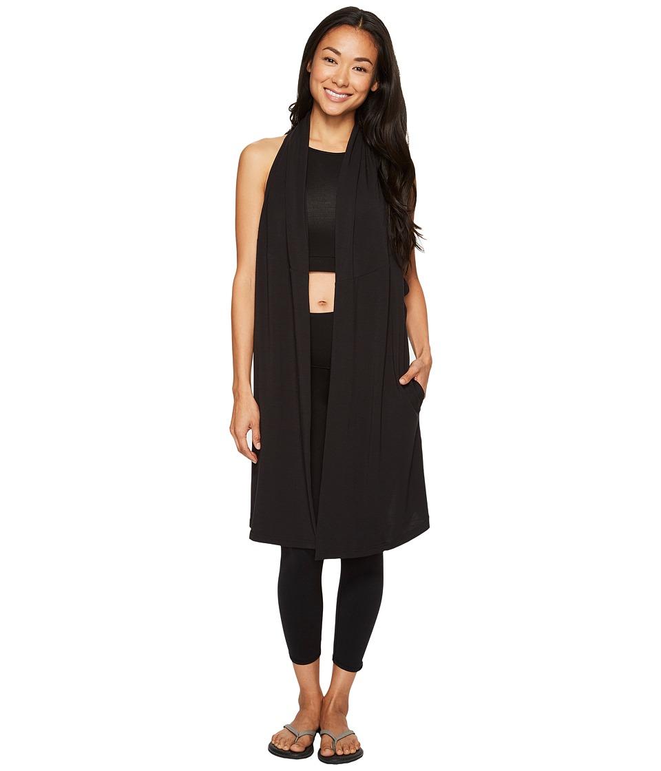 Lucy - Calm Heart Wrap Vest (Lucy Black) Women's Vest