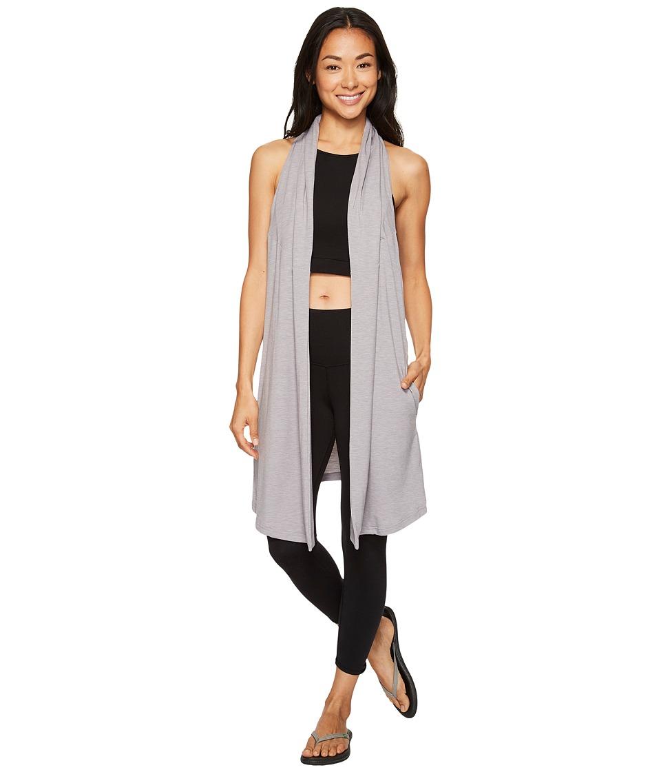Lucy - Calm Heart Wrap Vest (Silver Filigree Heather) Women's Vest