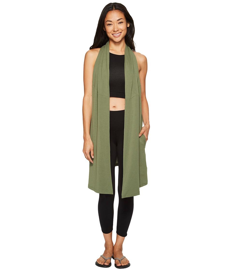 Lucy - Calm Heart Wrap Vest (Rich Olive) Women's Vest