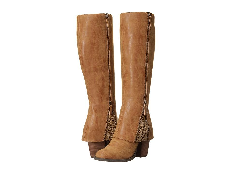 Sbicca - Naveen (Tan) Women's Zip Boots