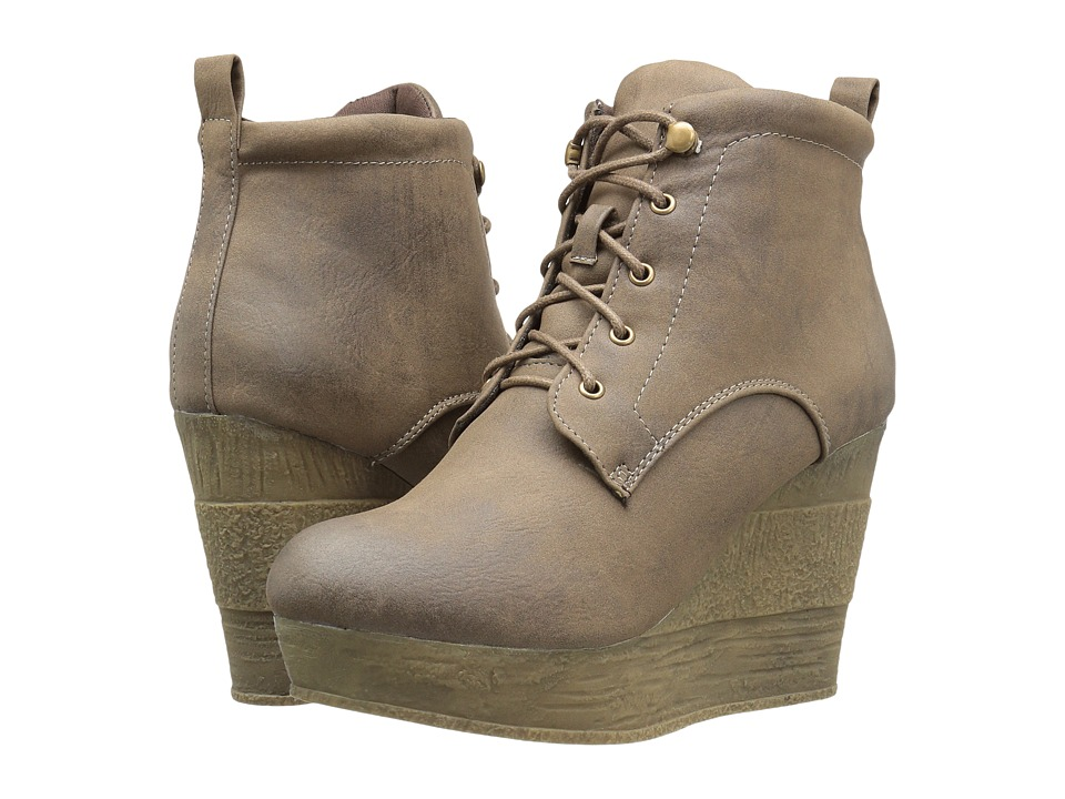 Sbicca - Elsbeth (Taupe) Women's Lace-up Boots