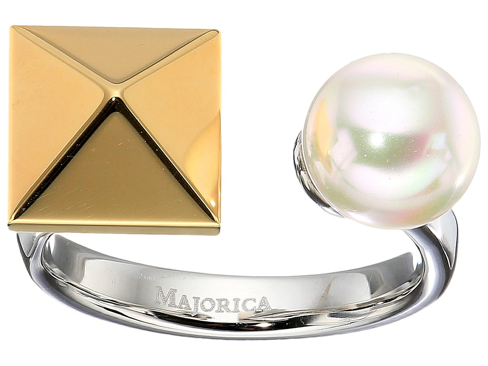 Majorica - Why Not? Two-Tone Ring (White) Ring