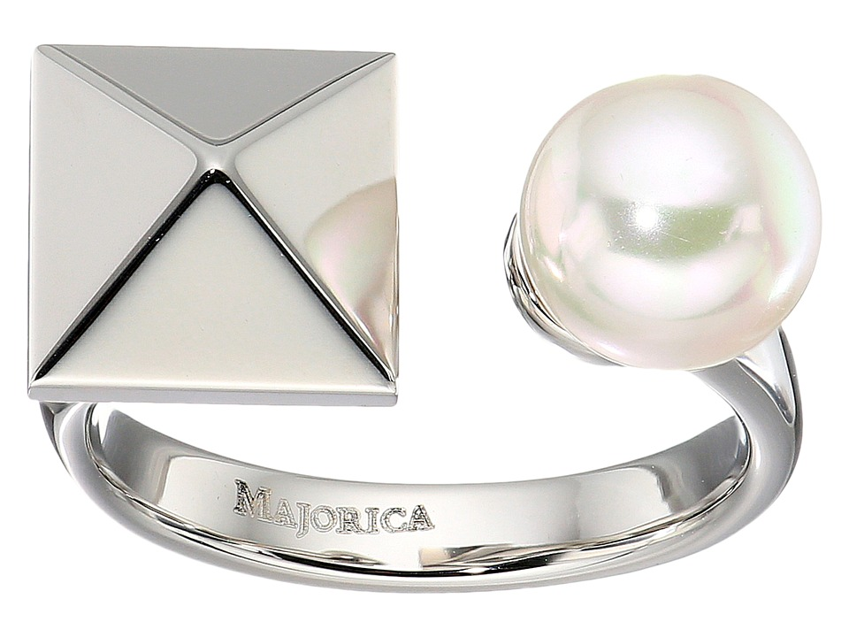 Majorica - Why Not? Silver Ring (White) Ring