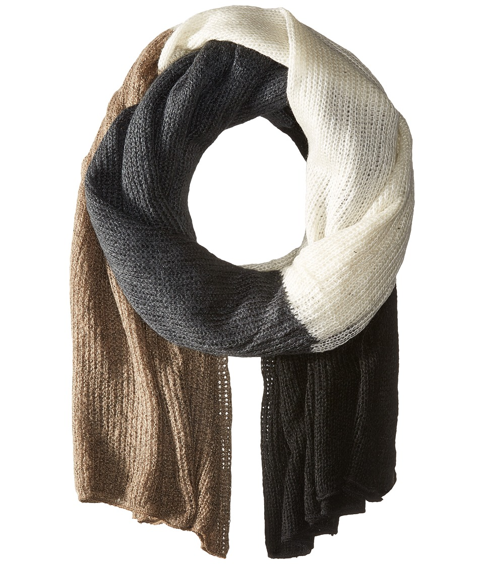 Steve Madden - Color Block Blanket Wrap (Neutral) Scarves