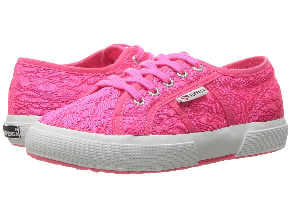 Superga Kids 2750 Fabricmeshfluoj (Infant/Toddler/Little Kid/Big Kid) (Pink Fabric Mesh) Girls Shoes