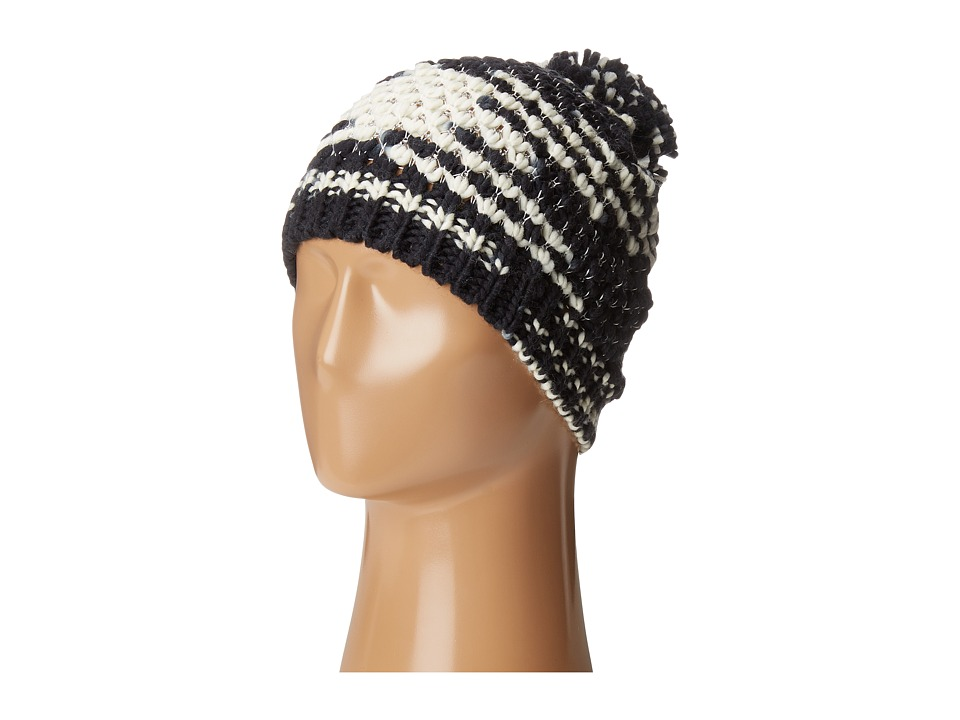Steve Madden - Graphic Stitch Beanie (Black) Beanies