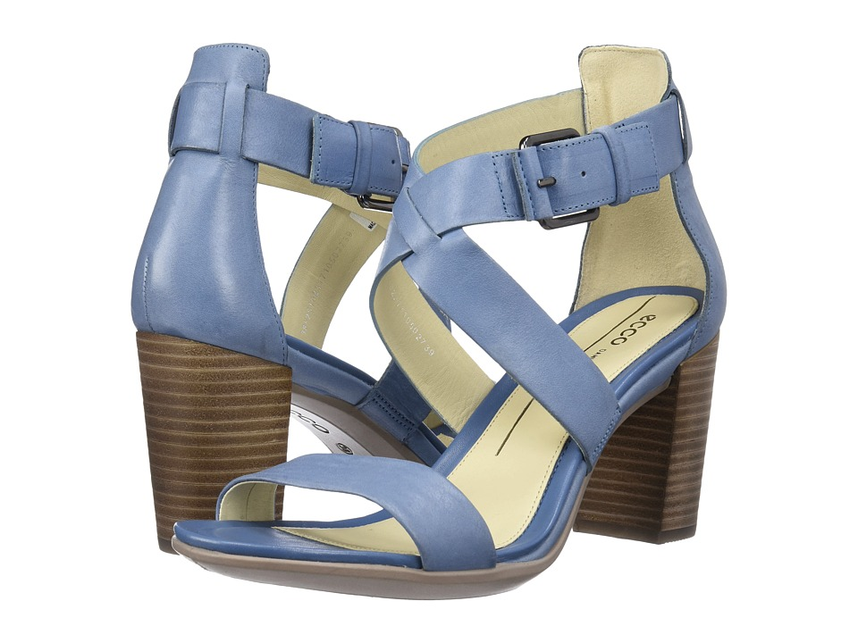 ECCO - Shape 65 Block Sandal (Retro Blue) High Heels