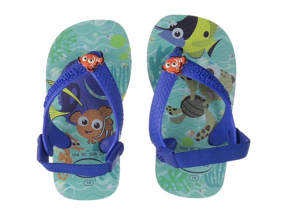Havaianas Kids - Disney Cuties Sandals (Toddler) (Ice Blue) Kids Shoes