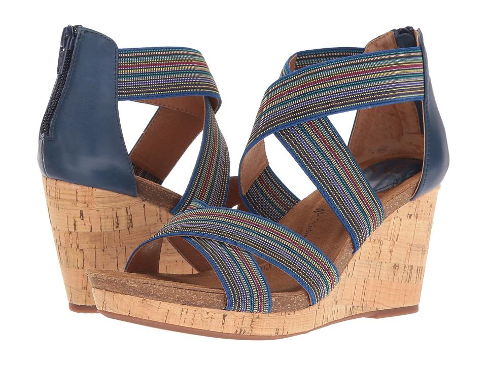 Sofft Cary (Spring Indigo/Blue Multi/Cow Quilin/Elastic) Women