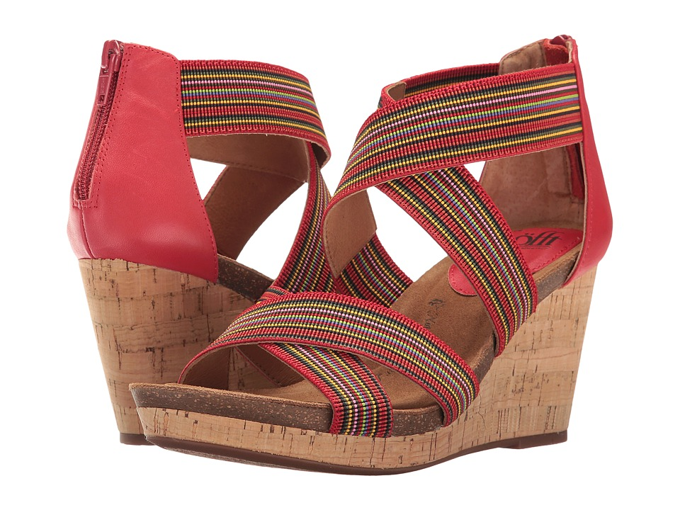 Sofft Cary (Fire Red/Red Multi/M-Vege/Elastic) Women