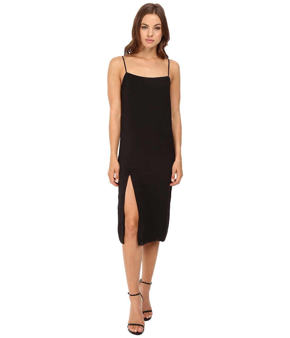 Capulet - Midi Slip Dress (Black) Women's Dress