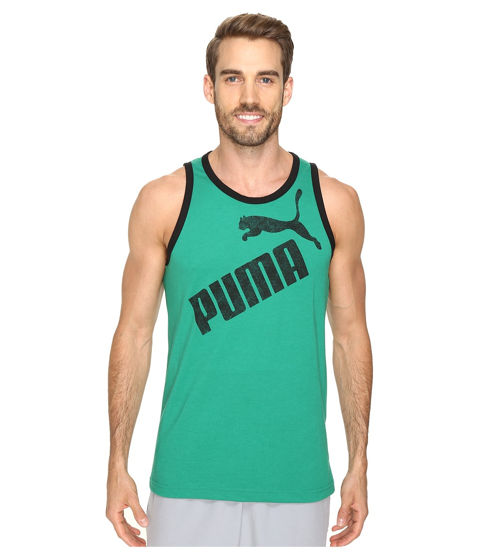 PUMA - #1 Tank (Ultramarine Green/Black) Men's Sleeveless