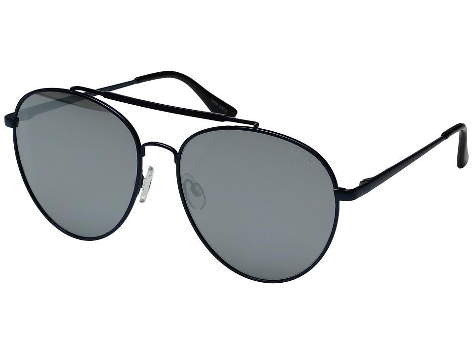 QUAY AUSTRALIA - Lickety Split (Blue/Silver) Fashion Sunglasses