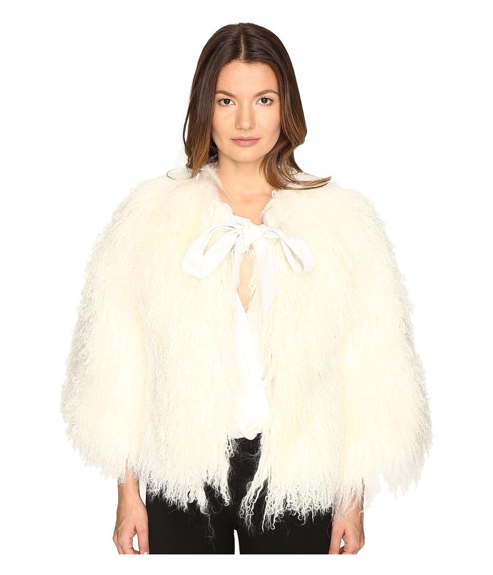 LAMARQUE Hisa Mongolian Shearling Jacket (White) Women
