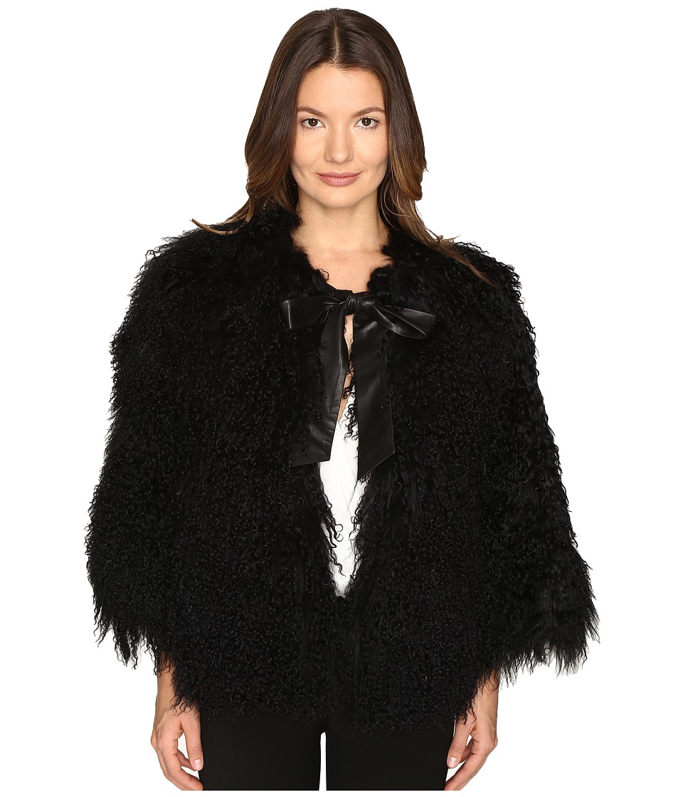 LAMARQUE - Hisa Mongolian Shearling Jacket (Black) Women's Coat