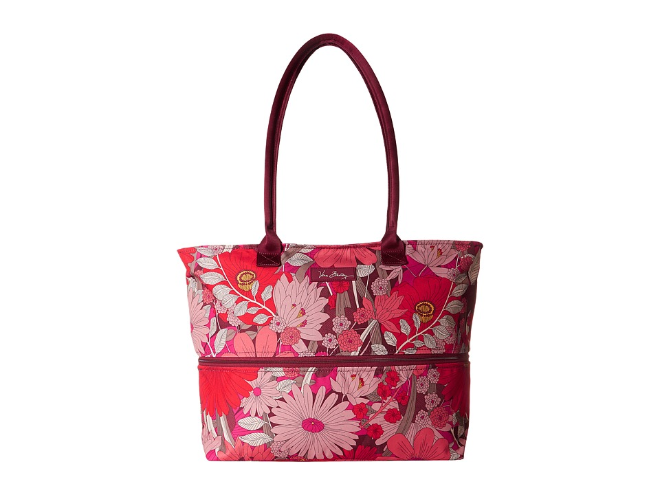 Vera Bradley Luggage - Lighten Up Expandable Travel Tote (Bohemian Blooms) Tote Handbags