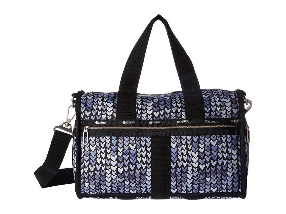 LeSportsac Luggage - CR Small Weekender (Painted Hearts Blue) Weekender/Overnight Luggage
