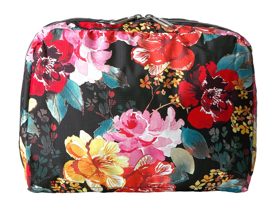 LeSportsac Luggage - XL Essential Cosmetic (Romantics Black) Cosmetic Case
