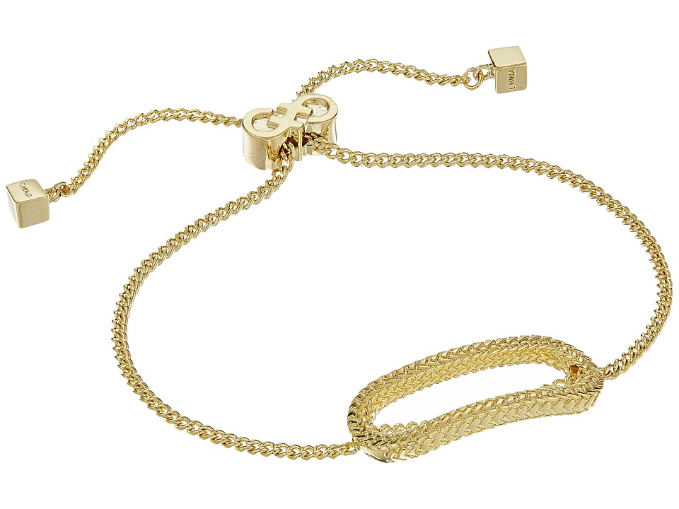 Cole Haan - Elongated Oval Pull Tie Bracelet (Gold) Bracelet