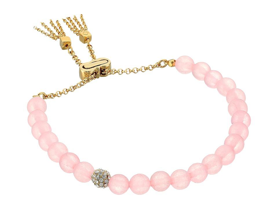 Cole Haan - Semi Precious Pull Tie Bracelet (Gold/Rose Quartz/Crystal) Bracelet
