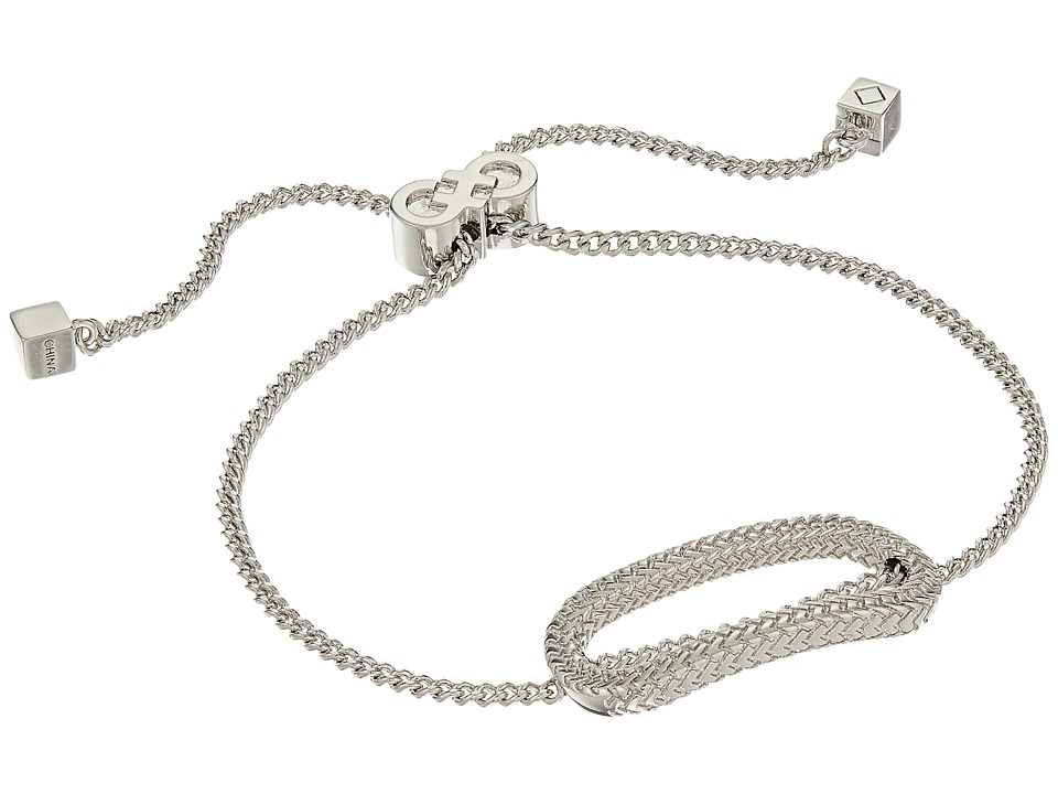 Cole Haan - Elongated Oval Pull Tie Bracelet (Light Rhodium) Bracelet