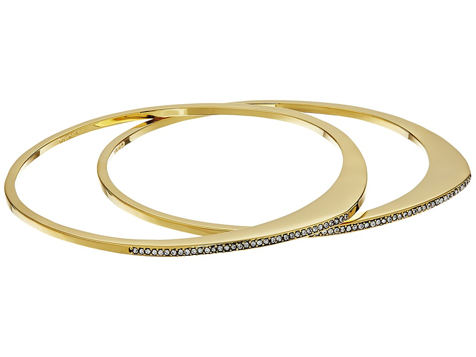 Cole Haan - Organic Pave Bangle Set (Gold/Crystal) Bracelet