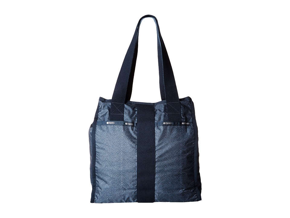LeSportsac Luggage - City Tote (Herringbone Blue) Tote Handbags