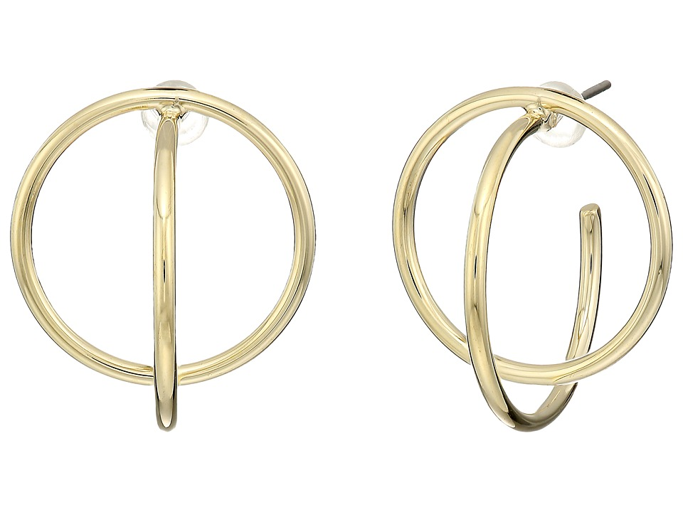 Cole Haan - Geometric C Hoop Earrings (Gold) Earring