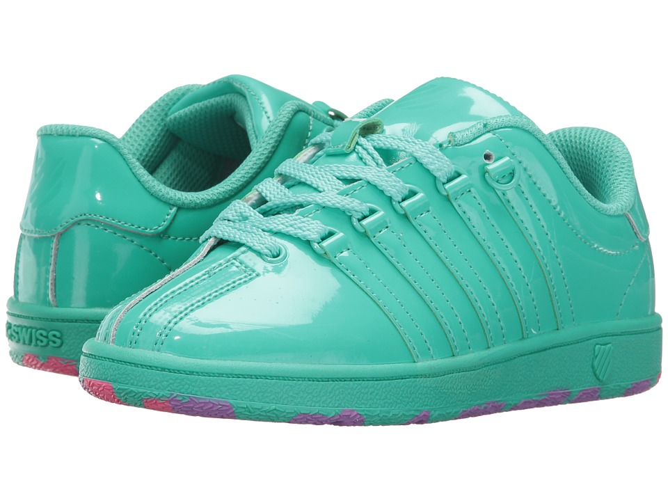K-Swiss Kids - Classic VN (Little Kid) (Electric Green) Girl's Shoes