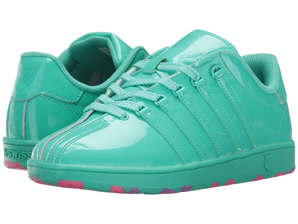 K-Swiss Kids - Classic VN (Big Kid) (Electric Green) Girl's Shoes
