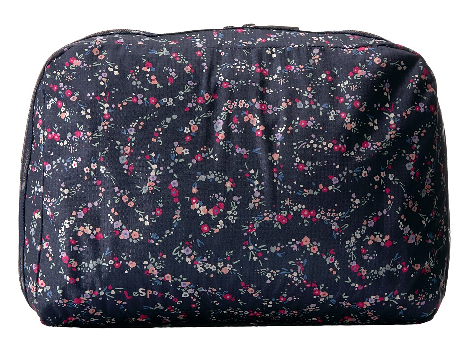 LeSportsac Luggage XL Essential Cosmetic (Fairy Floral Blue) Cosmetic Case