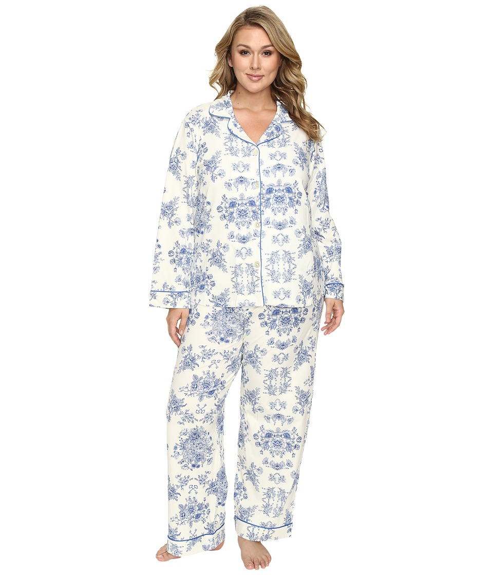 BedHead - Plus Size Long Sleeve Classic Pajama Set (Mystery Garden) Women's Pajama Sets