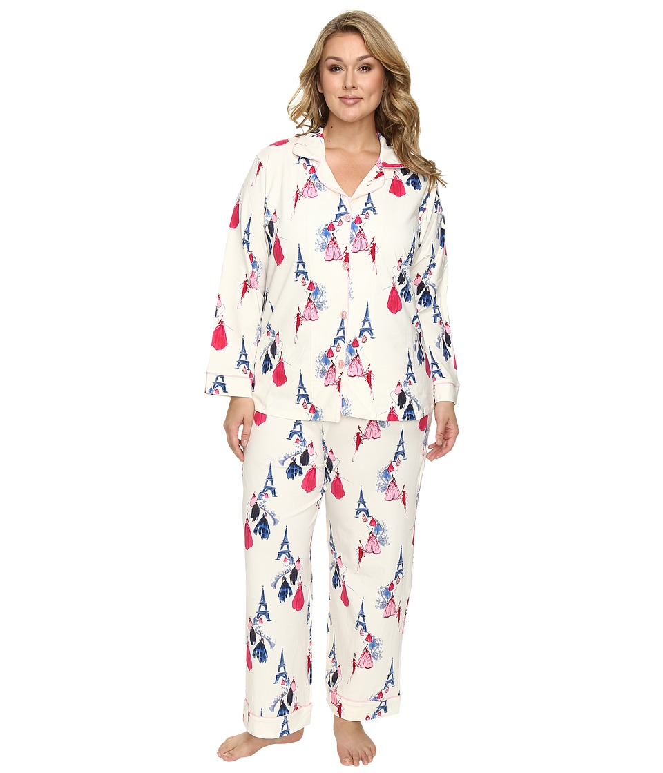 BedHead - Plus Size Long Sleeve Classic Pajama Set (Fashion Week) Women's Pajama Sets