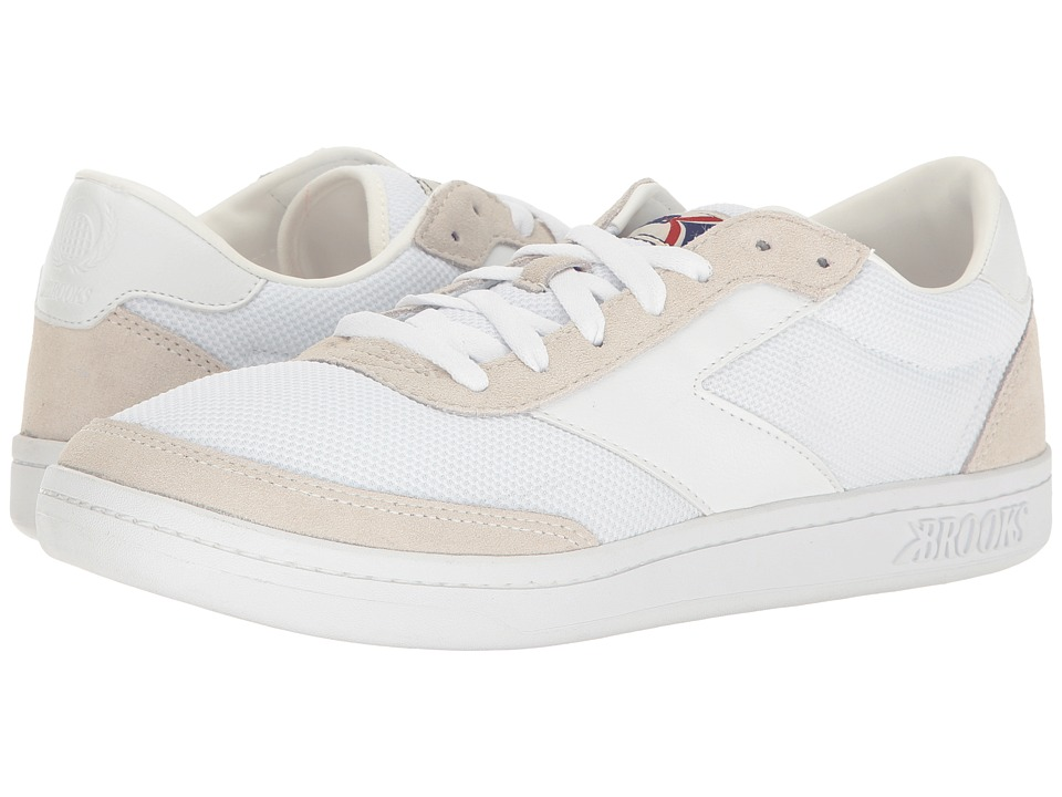 Brooks Heritage - Court Doherty (White/White) Men's Tennis Shoes