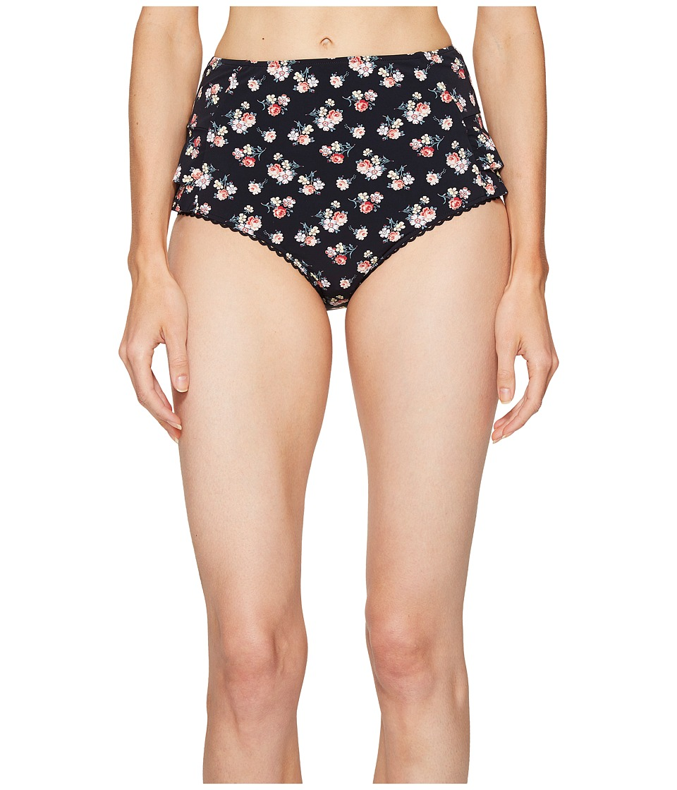 Stella McCartney Grungy Flower High Waist Bikini Bottom Grunge Floral Print Swimwear