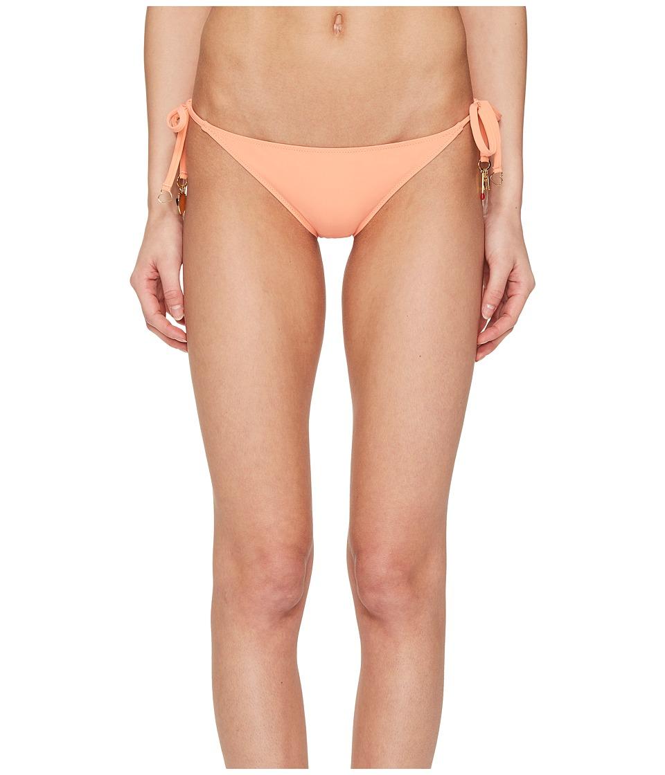 Stella McCartney Timeless Basics Tie Side Bikini Bottom (Faded Coral) Women