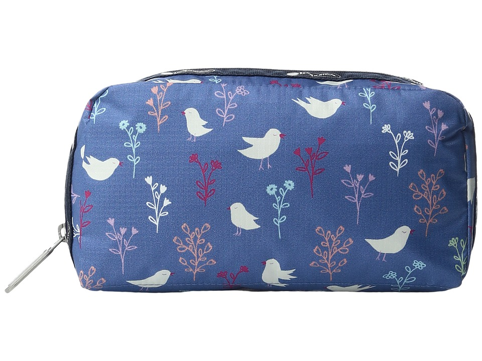 LeSportsac - Essential Cosmetic Case (Song Birds Blue) Cosmetic Case