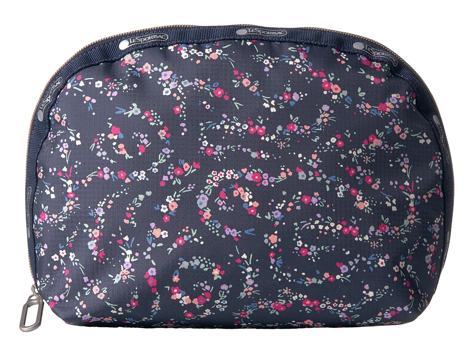 LeSportsac Half Moon Cosmetic (Fairy Floral Blue) Cosmetic Case